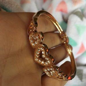 Golden bracelet cuff
